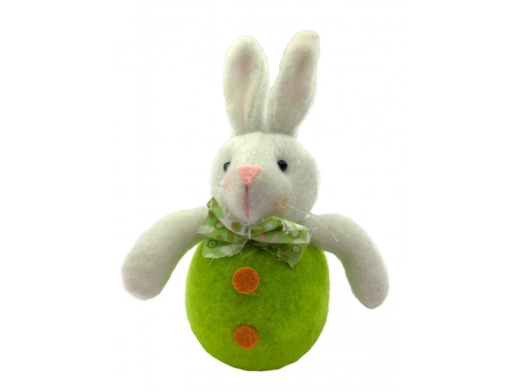 plyš zajíc zelený 39kč, 8ks