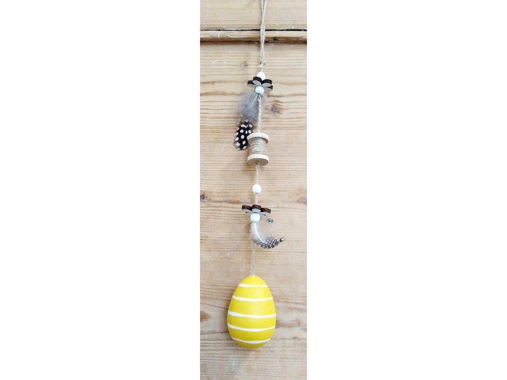 závěs, žluté vaajíčko 29kč, 21ks