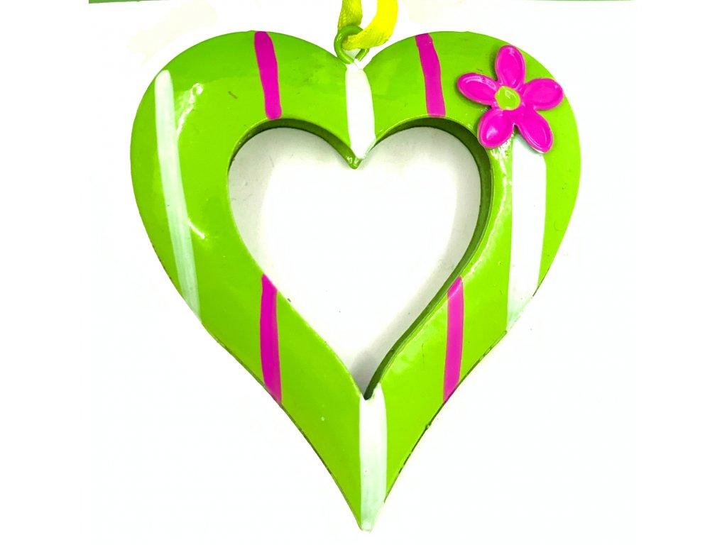 závěs plech srdce 109