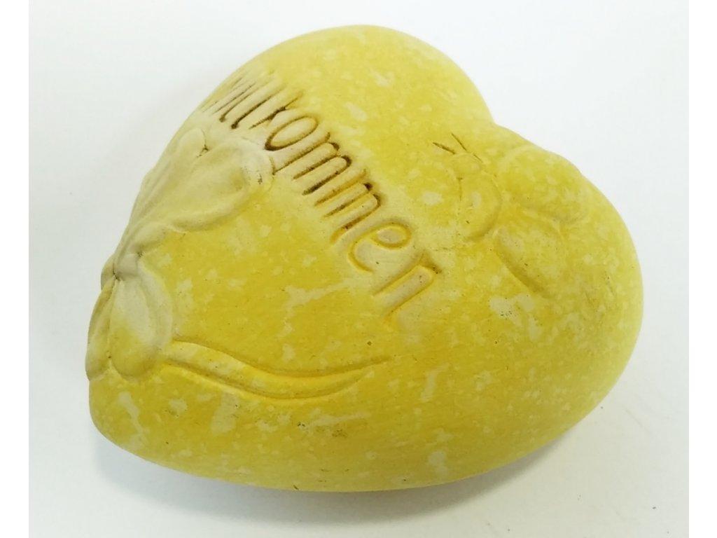 Srdce 'willkommen' 10 cm - více barev
