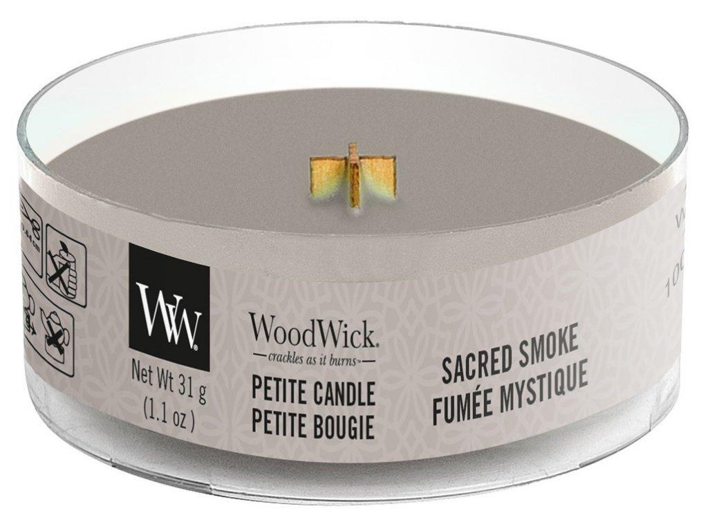 Woodwick Sacred Smoke svíčka Petite