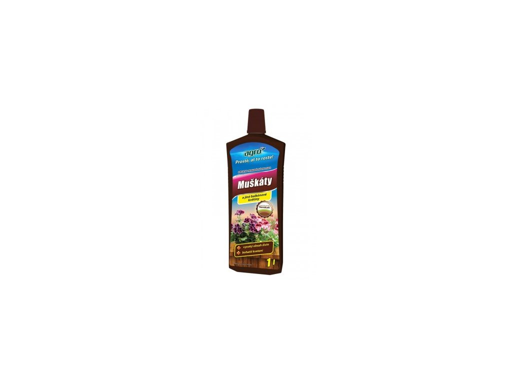 AGRO Organo-minerální kapalné hnojivo na muškáty 1 l