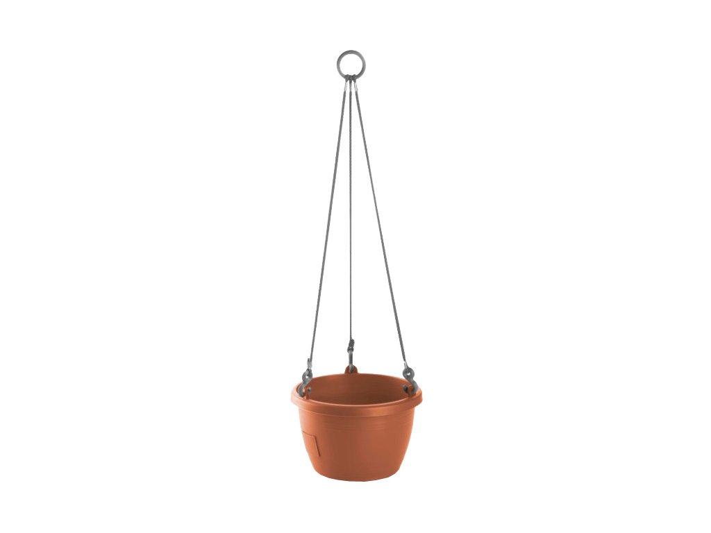 Samozavlažovací závěsný květináč Marina terakota