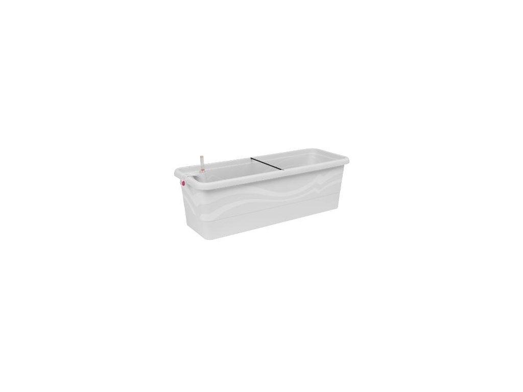Samozavlažovací truhlík Smart Systém Gardenie 60 cm bílá