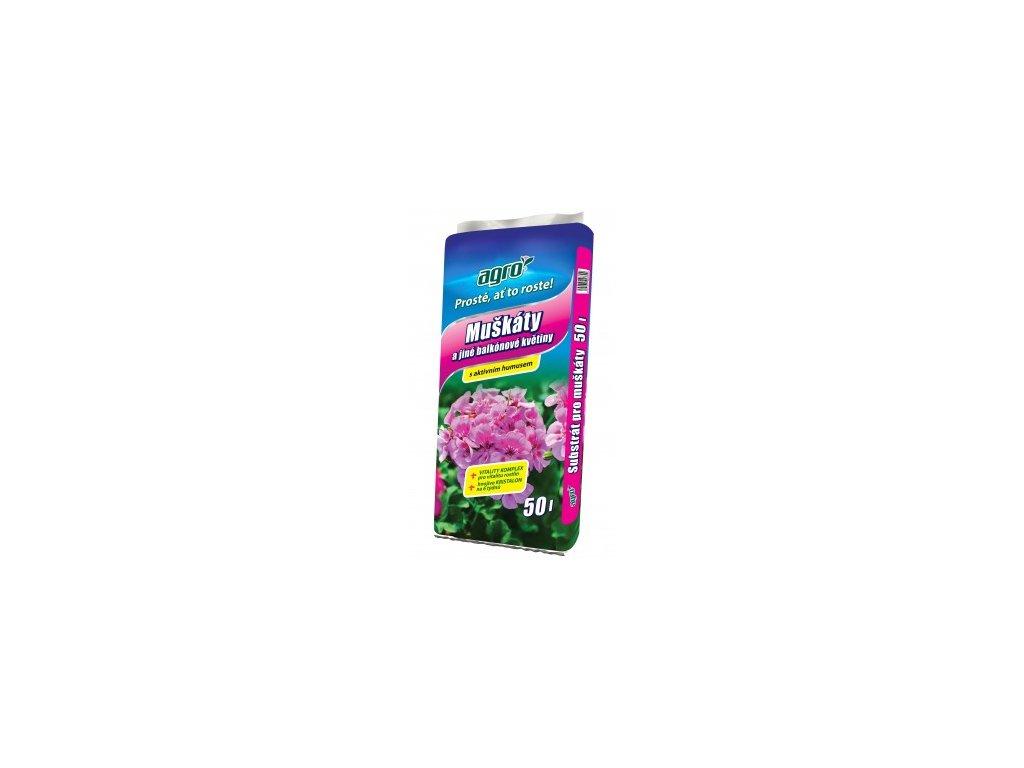 AGRO Substrát pro muškáty a jiné balkónové květiny 50 L