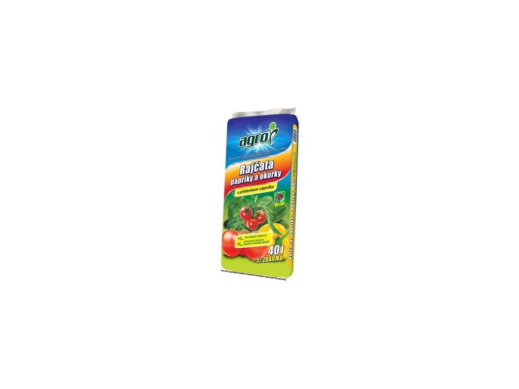 AGRO Substrát pro rajčata, papriky a okurky 40 + 5 l ZDARMA