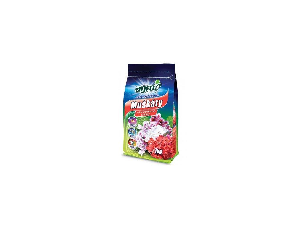 AGRO Organo-minerální hnojivo muškáty 1 kg