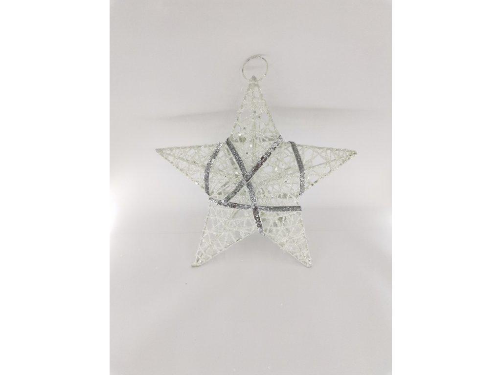 Vánoční hvězda bílá 0014