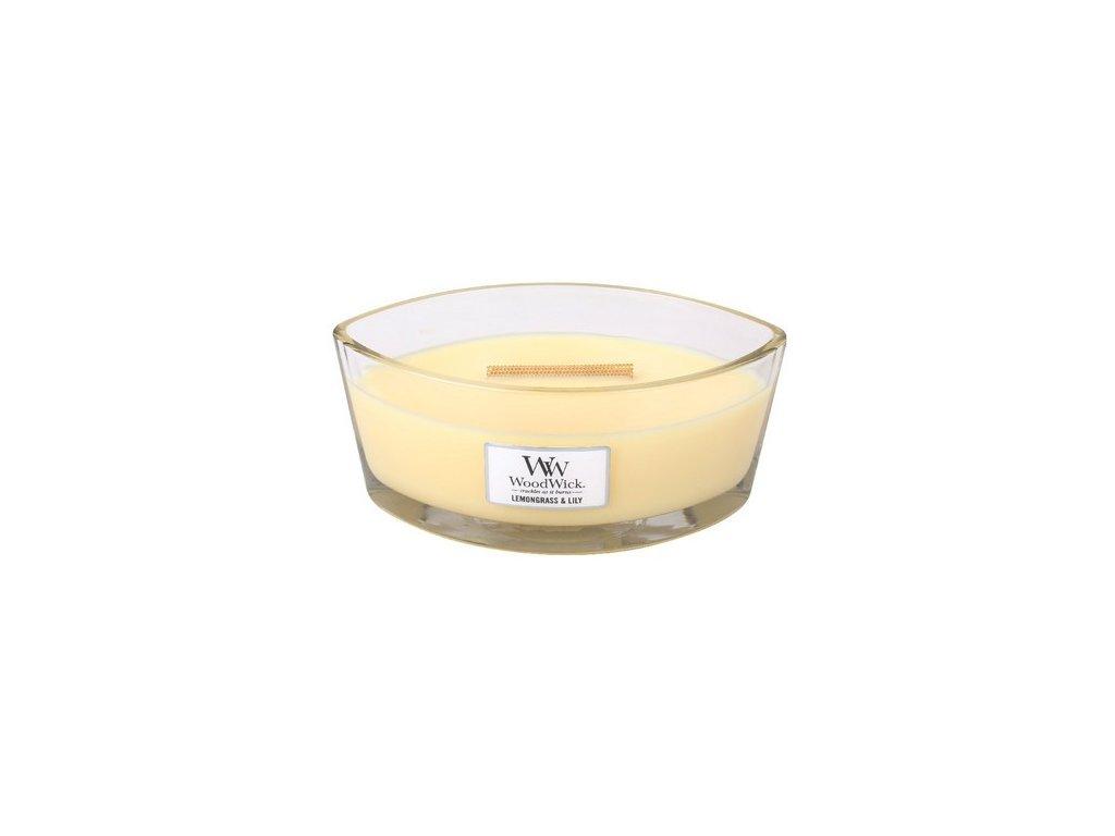 WoodWick Lemongrass & Lily svíčka loď