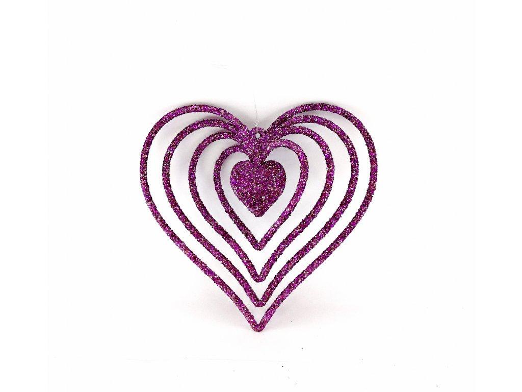 10cm 19kc srdce fialové