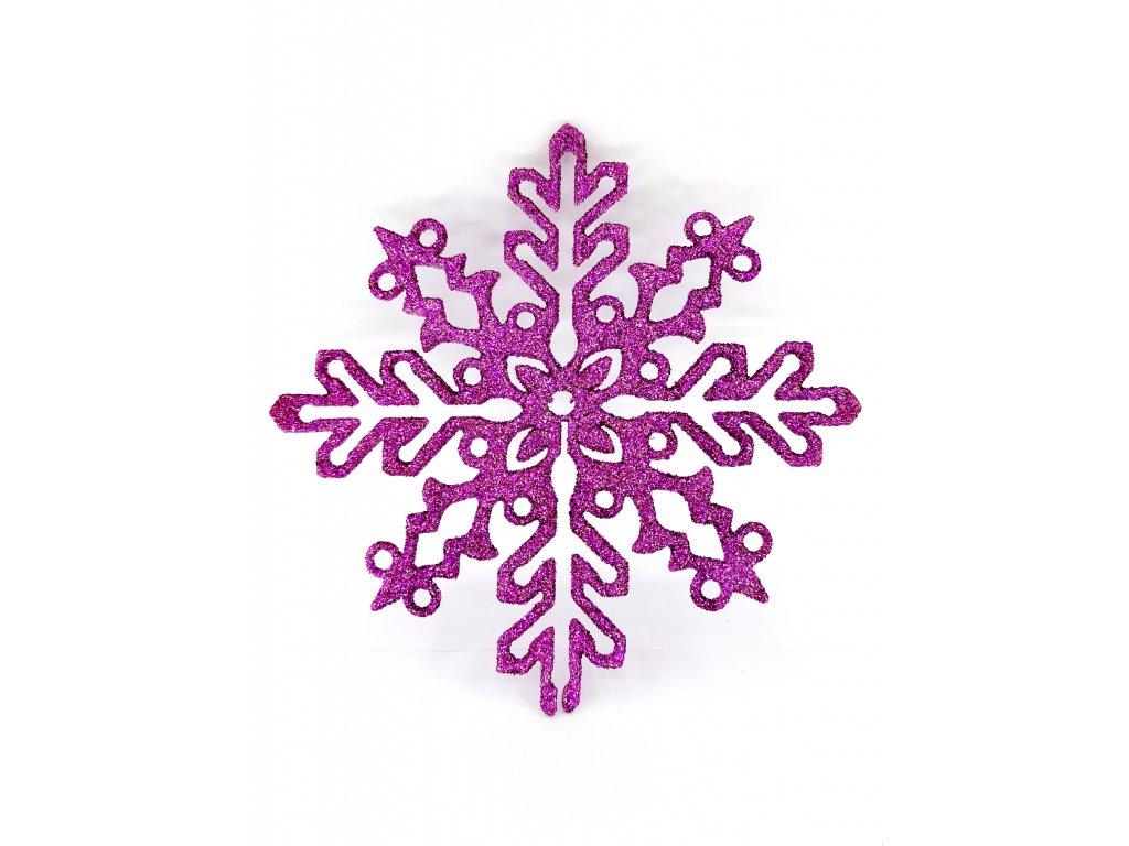 21cm 59 Kč sněhová vločka fialo