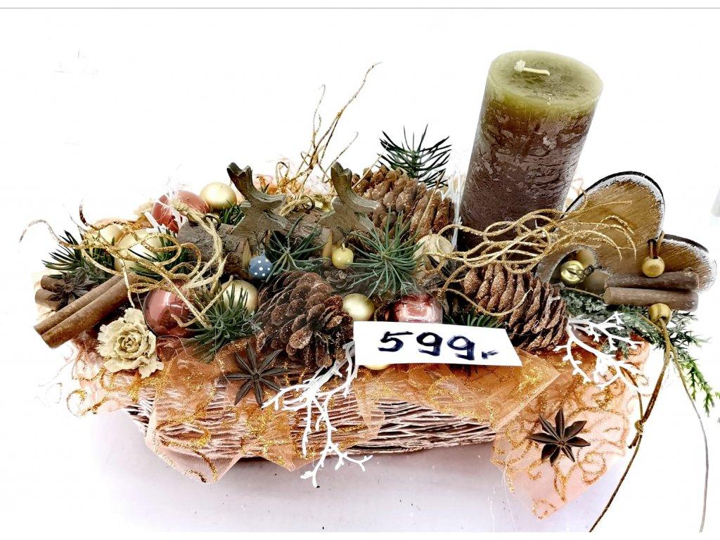 Vánoční dekorativní košík 0109
