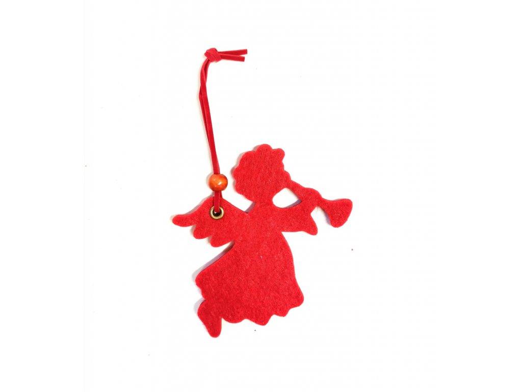 Vánoční červený anděl - více druhů 0246