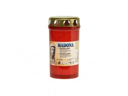 Madona Hřbitovní svíčka s víčkem lisovaná červená 55 g