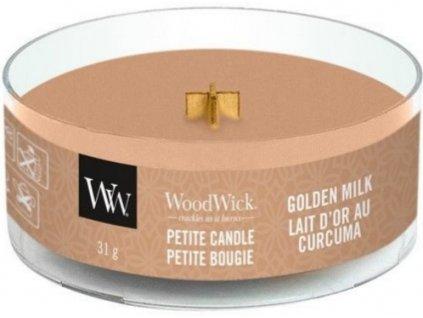 Woodwick Golden Milk svíčka Petite