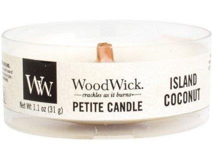 Woodwick Island Coconut svíčka Petite