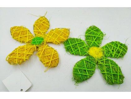 Sisalový květ žlutý/zelený