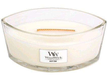WoodWick White Teak svíčka loď