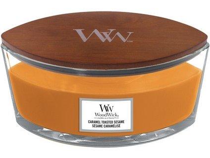 WoodWick Caramel Toasted Sesame svíčka loď