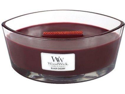 WoodWick Black Cherry svíčka loď