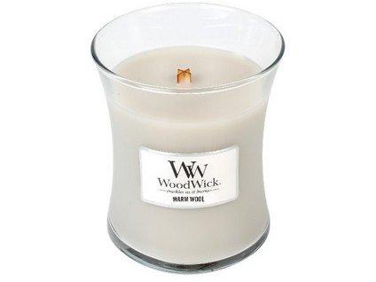 WoodWick Warm Wool váza střední