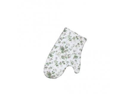 ROCOCO chňapka zelený květ