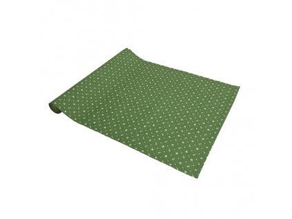 ZDEKOR modrotisk běhoun zelený90x40cm (rozměr 90x40)