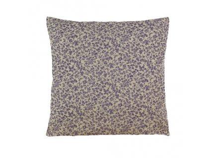 lila polštář povlak kvítek