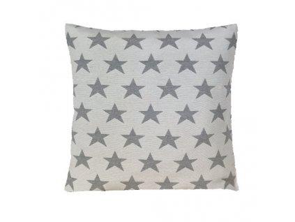 hvězda velká polštář povlak šedý světlý