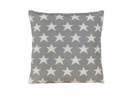 hvězda velká polštář povlak šedý