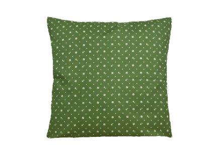 modrotisk polštář povlak zelený