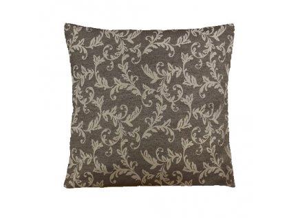 loara polštář povlak hnědý vzor
