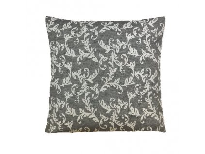 loara polštář povlak šedý vzor