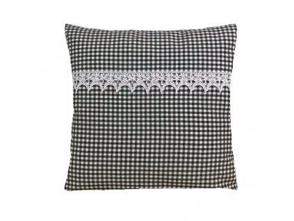 rené polštář povlak šedý+krajka
