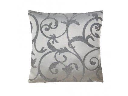 S ornament polštář povlak šedý
