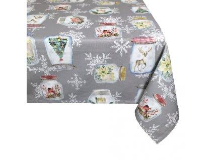 ubrus vánoce zavařovačky