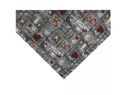 napron vánoce patchwork tisk