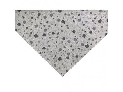 napron vánoce hvězda lurex šedá