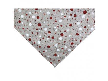 napron vánoce hvězda lurex červená