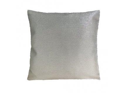 polštář povlak vánoce stříbro světlé UNI