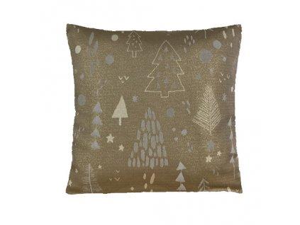 polštář povlak vánoce tree gold opozit