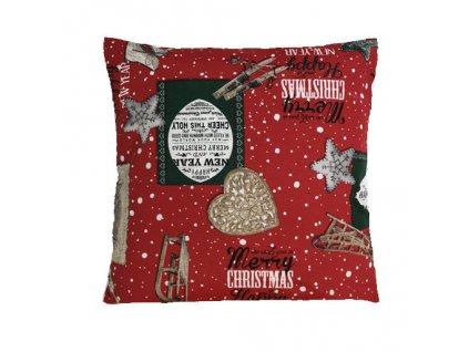 polštář povlak vánoce happy new year