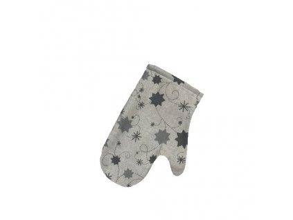 chňapka vánoce hvězda lurex šedá