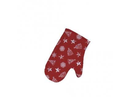 chňapka vánoce nadílka červená