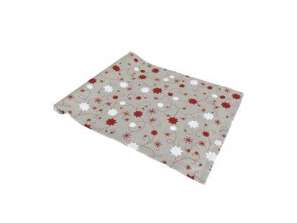 běhoun vánoce hvězda lurex červená