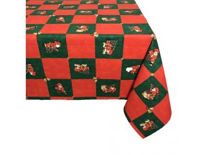 ubrus vánoce santa káro zelené