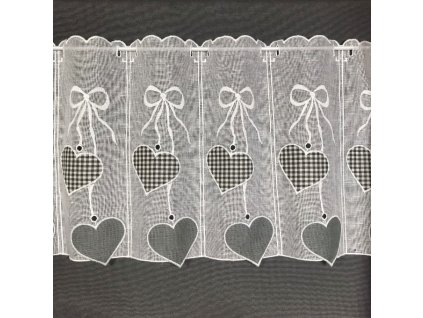 záclona krátká herz pepito šedé