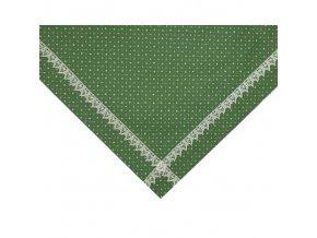 MODROTISK napron zelený+krajka