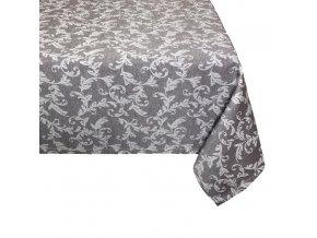 loara ubrus vzor hnědý