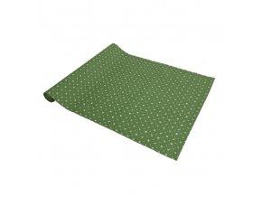 ZDEKOR modrotisk běhoun zelený90x40cm